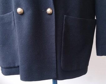 Excellent vintage wool, double breasted Jaeger jacket/blazer. Size 14 upwards