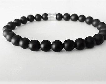 matte finish Onyx beads