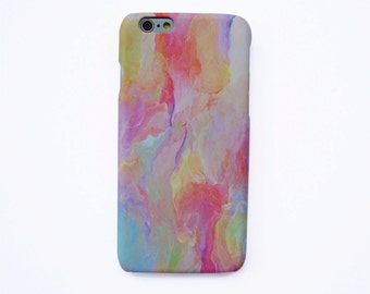 Colorful pastel water painting iPhone SE case Pastel iPhone 7 case Water painting iPhone 6S case Colorful pastel iPhone 6+ case