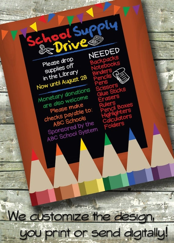 items similar to school supply drive