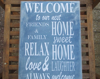 Home Sweet Home Shabby Chic Canvas Wall Art