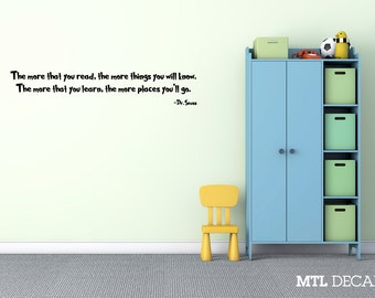 "Dr Seuss Wall Decal Wall Quote Sticker (36"" x 6.6"") Kids Room Gift Ideas"