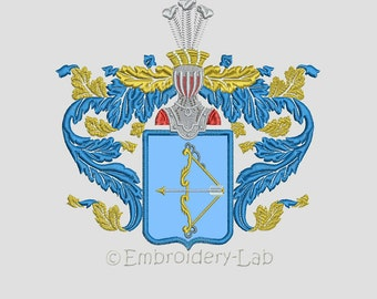 Old Russian Coat of Arms applique - machine embroidery design