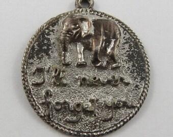 I'll Never Forget You Elephant Sterling Silver Vintage Charm For Bracelet