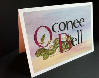 Oconee Bell logo Greeting Card