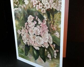 Mountain Laurel Greeting Card