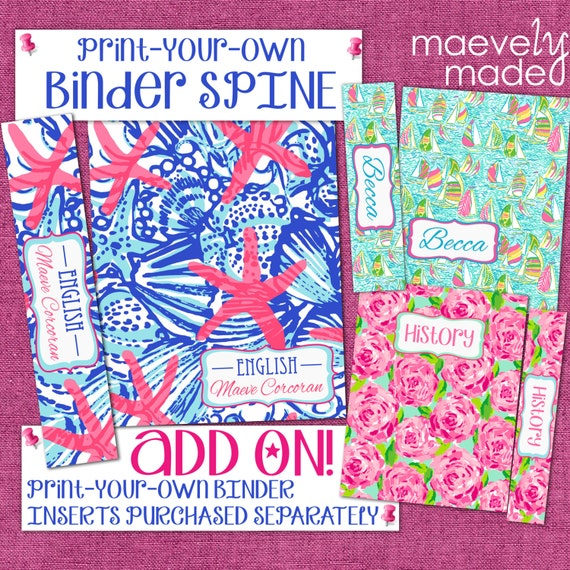 ADD ON Binder Spine Print-Your-Own Personalized On By