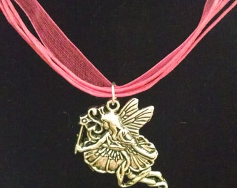 Fairy Necklace Hot Pink Organza