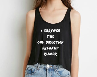i survived the one direction breakup rumor Boxy Cropped Tank Top