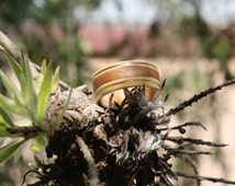Popular Items For Wood Inlay Ring On Etsy