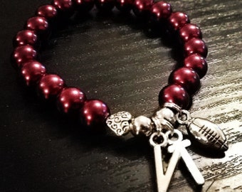 College Beaded Bracelet