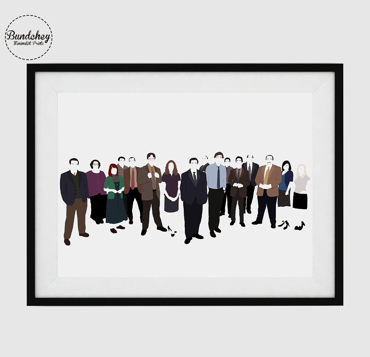 THE OFFICE TV Minimalist Poster Art By Bundchey On Etsy