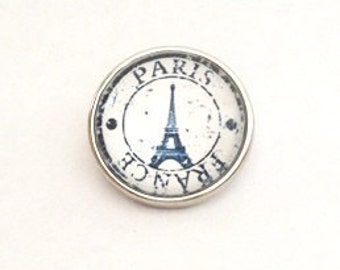 Snap Charm Eiffel Tower Paris France fits Noosa, Ginger snaps jewelry and other interchangeable jewelry, Christmas gifts, Gift for her