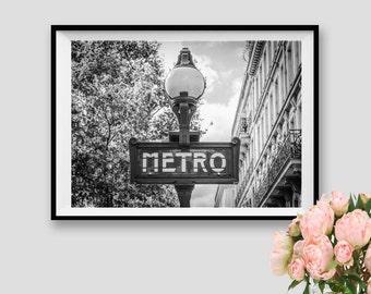 Paris Metro Decor Paris Subway Art Paris Print Photography Paris Wall Art Paris Instant Download Printable Paris