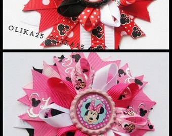 Mickey Mouse Minnie bow  Mickey party Girls hair bows Boutique hair bow Disney bow mickey mouse birthday
