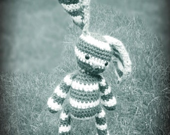 striped floppy bunny **crochet pattern only**