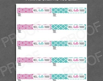 Mailing Labels DIGITAL FILE  - Origami Owl Inspired