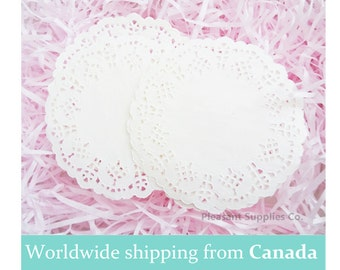 20 White Paper Dollies - 4'' - Reduced to clear!