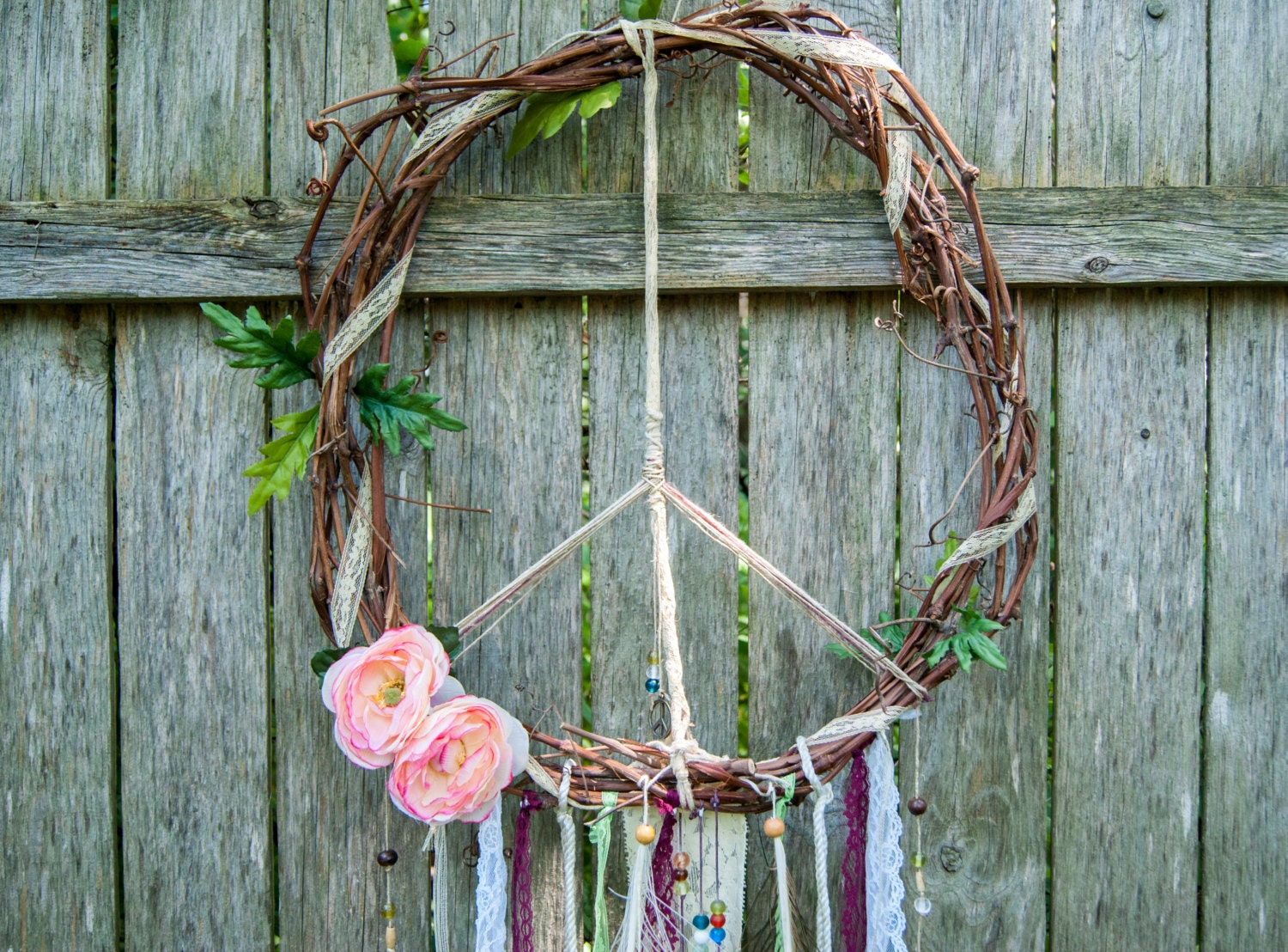 Peace Sign Wall Decor Bohemian Home Decor Hippie Decor