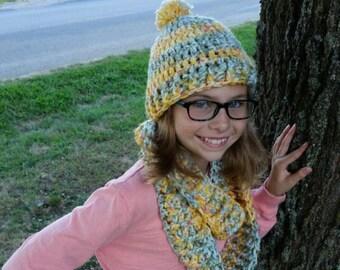 Crochet Chunky Hat, chunky scarf, beannie, chunky cowl, crochet hat, crochet scarf, crochet cowl, handmade, back to school, smoke free home