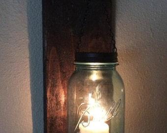 Rustic Hanging Jar Lamps