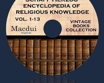 The new Schaff-Herzog encyclopedia of religious knowledge 1908-1914 Ebooks 13 PDF E-Books 1 DVD