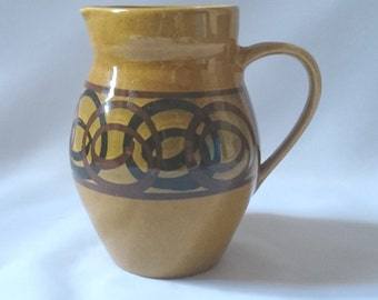 Vintage 1960's ceramic milk/ juice jug beautiful