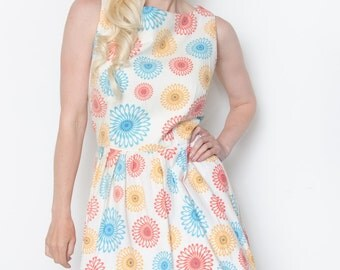 The Annie DressHandmade Vintage Inspired 50's Tea Dress Mismatched Bridesmaid Dress Rockabilly Size 14 CUSTOM MADE