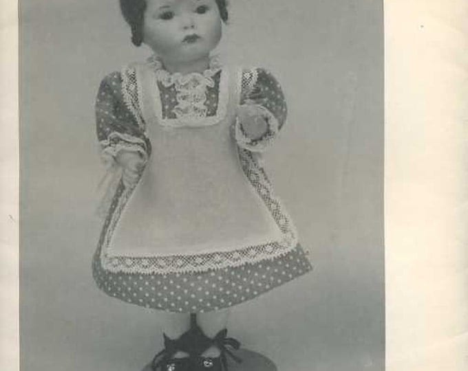 FREE usa SHIP Byron Doll Pattern 1980's 98 Pouty Carol Fits 8.75 Old Store Stock Sewing Pattern