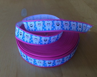 "Tooth Fairy Grosgrain Ribbon - 1"", Tooth Fairy Ribbons"