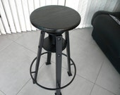 Urban Wood Steel Industrial Bar Stool