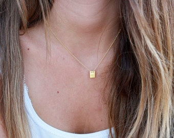I DID IT necklace, Minimal, Delicate Necklace - Tiny Gold - elegant