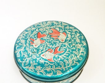 Vintage Tin Container Fish