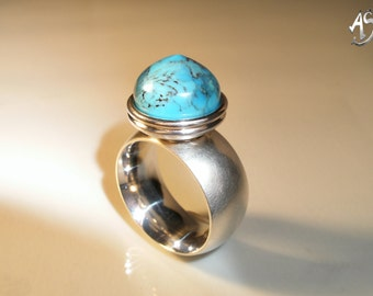 Turquoise ring, silver ring turquoise, ring turquoise