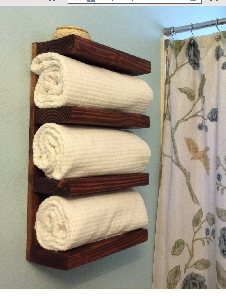 sale rustic bathroom towel rack by albertswoodshop1 on etsy