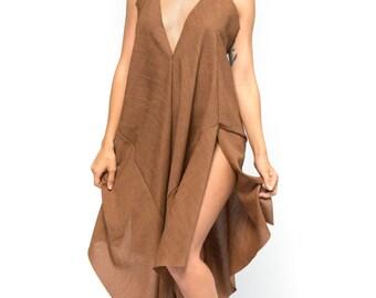 Burlap Maxi Dress