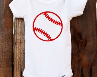 Baseball Onesie Baby Customizable Colors Vinyl
