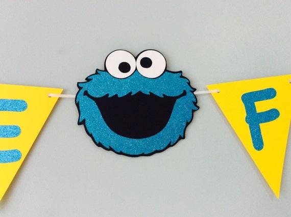cookie monster birthday bannerbirthday decorationsbaby