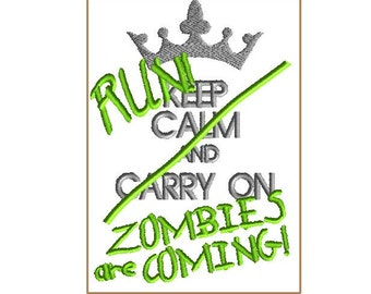 5x7 DON'T KEEP Calm. Run, Zombies are coming!  For all of you walking dead lovers out there, here is the perfect fan shirt design!