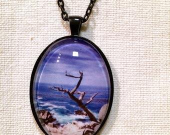 17 Mile Drive Tree Pendant Necklace