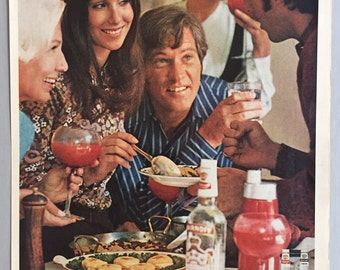 1970 Smirnoff Vodka Print Ad for Bloody Marys - The Smirnoff Brunch