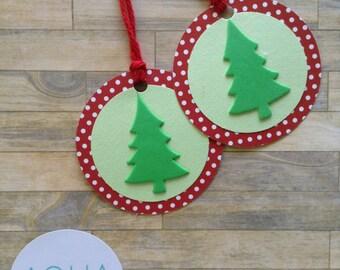12 Christmas Tree Tags