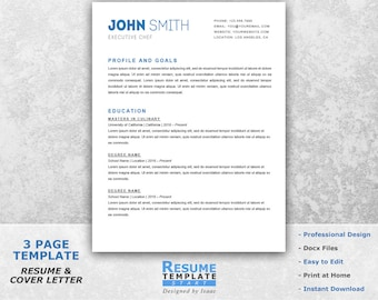 Simple Resume Template Word   Professional Resume Template For Word   Resume  Cover Letter Template    Sample Professional Resume Templates
