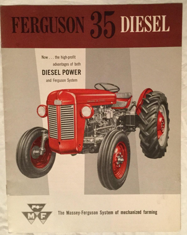 1961 Massey Ferguson 35 Diesel : Vintage massey ferguson sales brochure