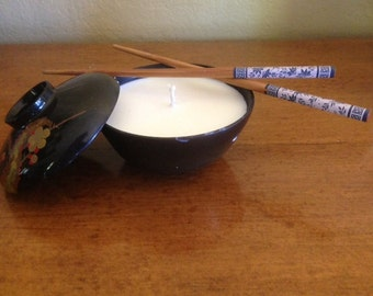 Japanese rice bowl tropical scented candle