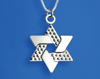 Intergrated Star of David - Sterling Silver