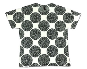 All Over Print Paisley Graphic T Shirt Circle Floral Sublimation Hipster Trendy Cool Festival Fashion
