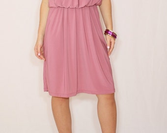 Mauve dress Short dress Bridesmaid dress Ash rose dress