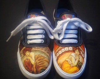 Alphonse Mucha Painted Shoes