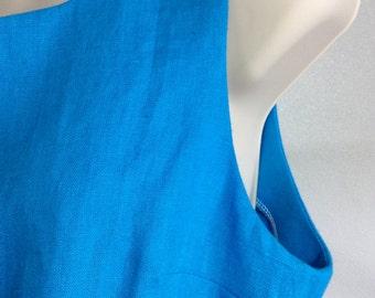 Choose Your Color - 100% Linen Sleeveless Blouse for Israelite Women w/ Corners for Tzitzit Tassels - Deborah Tunic